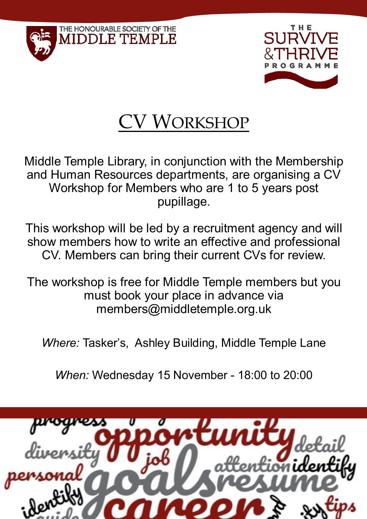 cv and covering letter workshop
