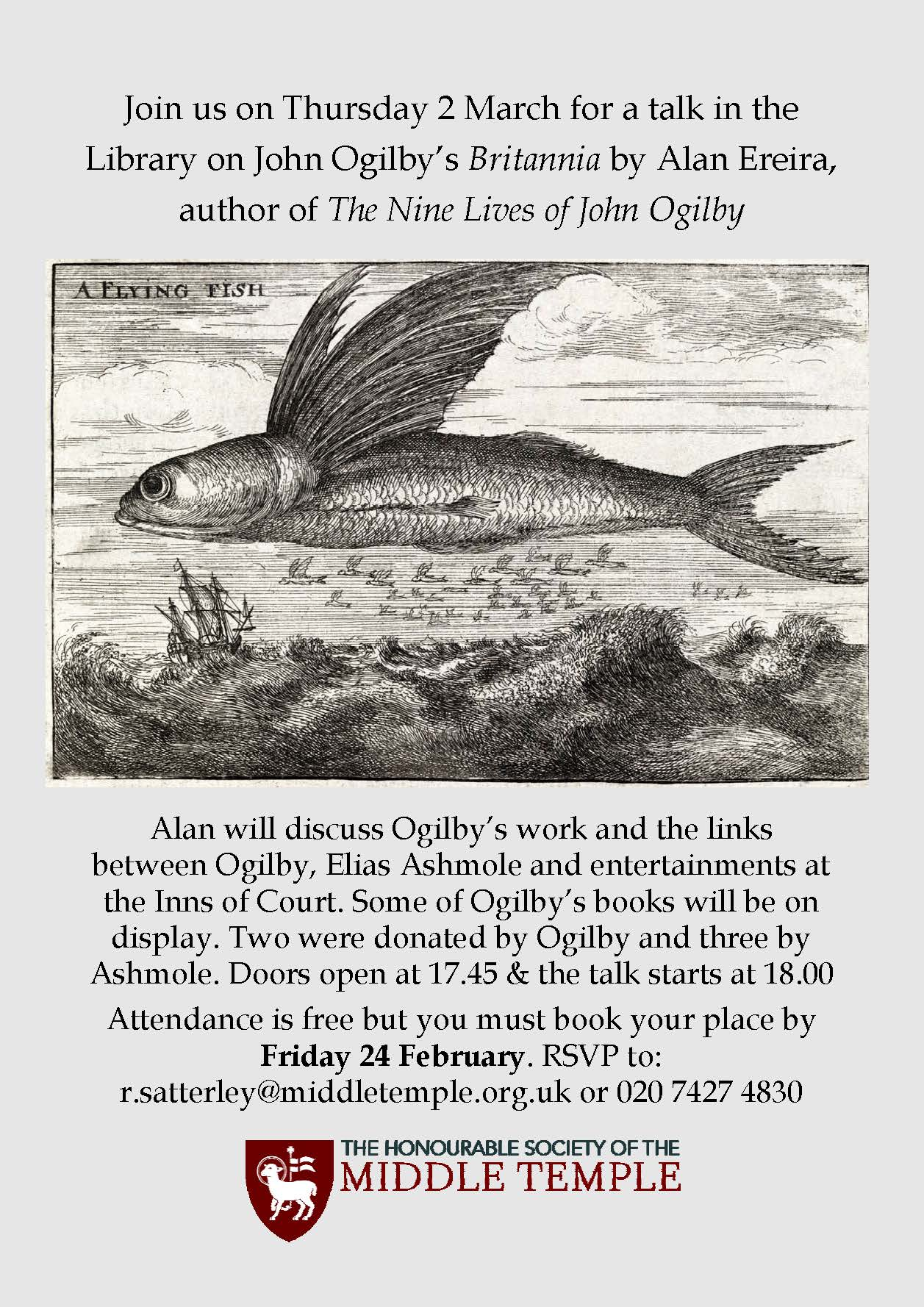 Flyer advertising Ogilby talk