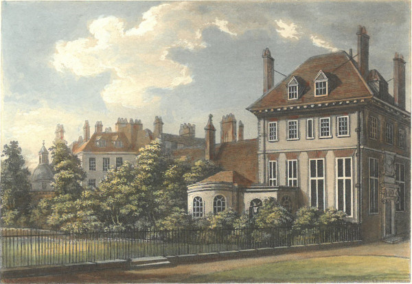 Colour print of New Inn by S. Ireland, 1800 (MT/19/ILL/A/A7/2)