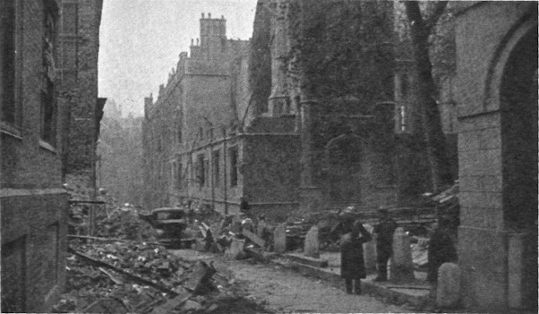 Middle Temple Lane, October 1940
