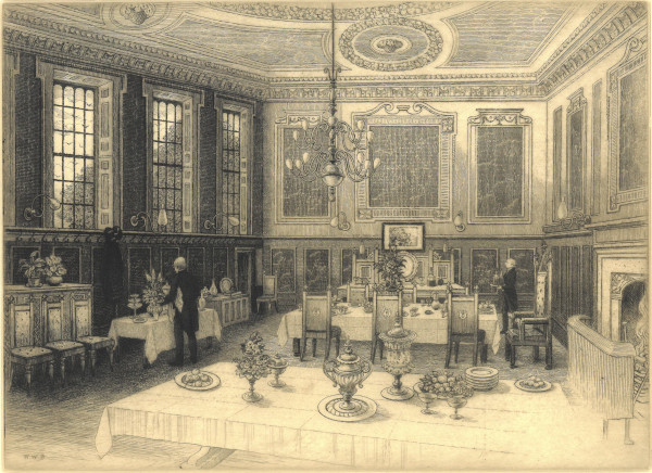 A room set up for dining in New Inn, by William Walter Burgess, c.1880-c.1900 (MT/19/ILL/A/A7/11)